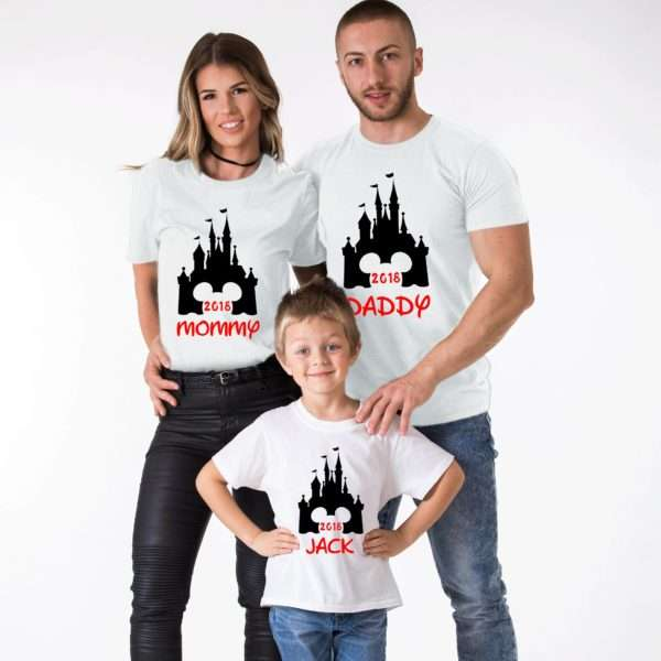 Custom Family Vacation Shirts, Magical Castle, Matching Family Shirts