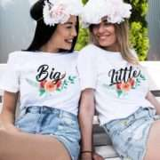 Big Little Flowers, Matching Best Friends Shirts
