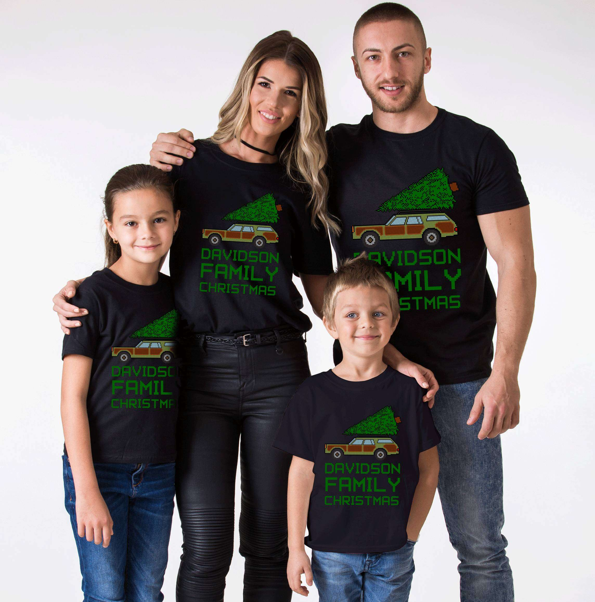Ugly Christmas Family Pictures.Ugly Christmas Shirt Custom Family Name Christmas Family Shirts