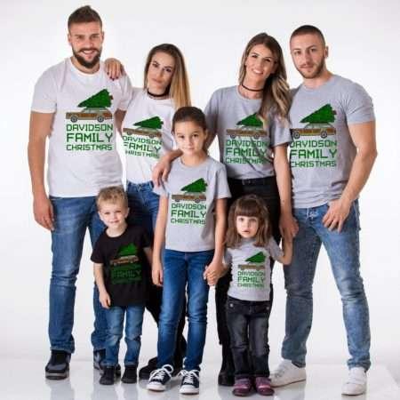 Ugly Christmas Shirts, Custom Family Name, Christmas Family Shirts