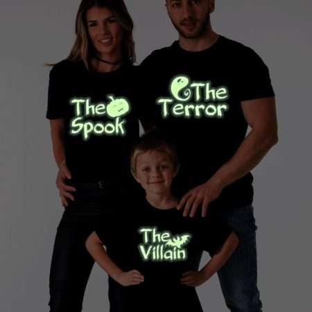 The Spook Terror Villain Glow in the Dark Shirts, Matching Family Shirts