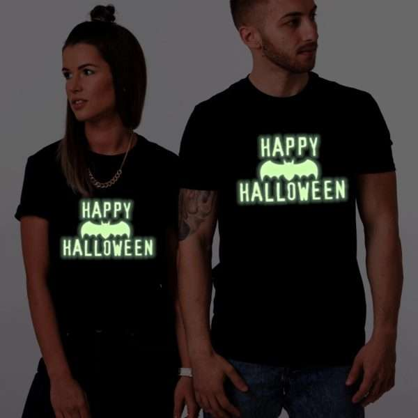 Happy Halloween Glow in the Dark Shirts, Matching Couple Shirts