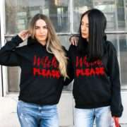 Witch Please Hoodies, Matching Best Friends Hoodies