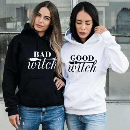 Good Witch Bad Witch Hoodies, Matching Best Friends Hoodies