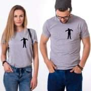 Zombie Halloween Shirts, Halloween Couple Shirts, Zombie Pocket