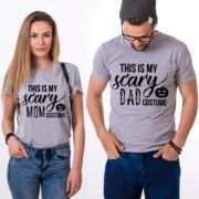 Scary Mom Costume Scary Dad Costume Shirts, Matching Couple Shirts