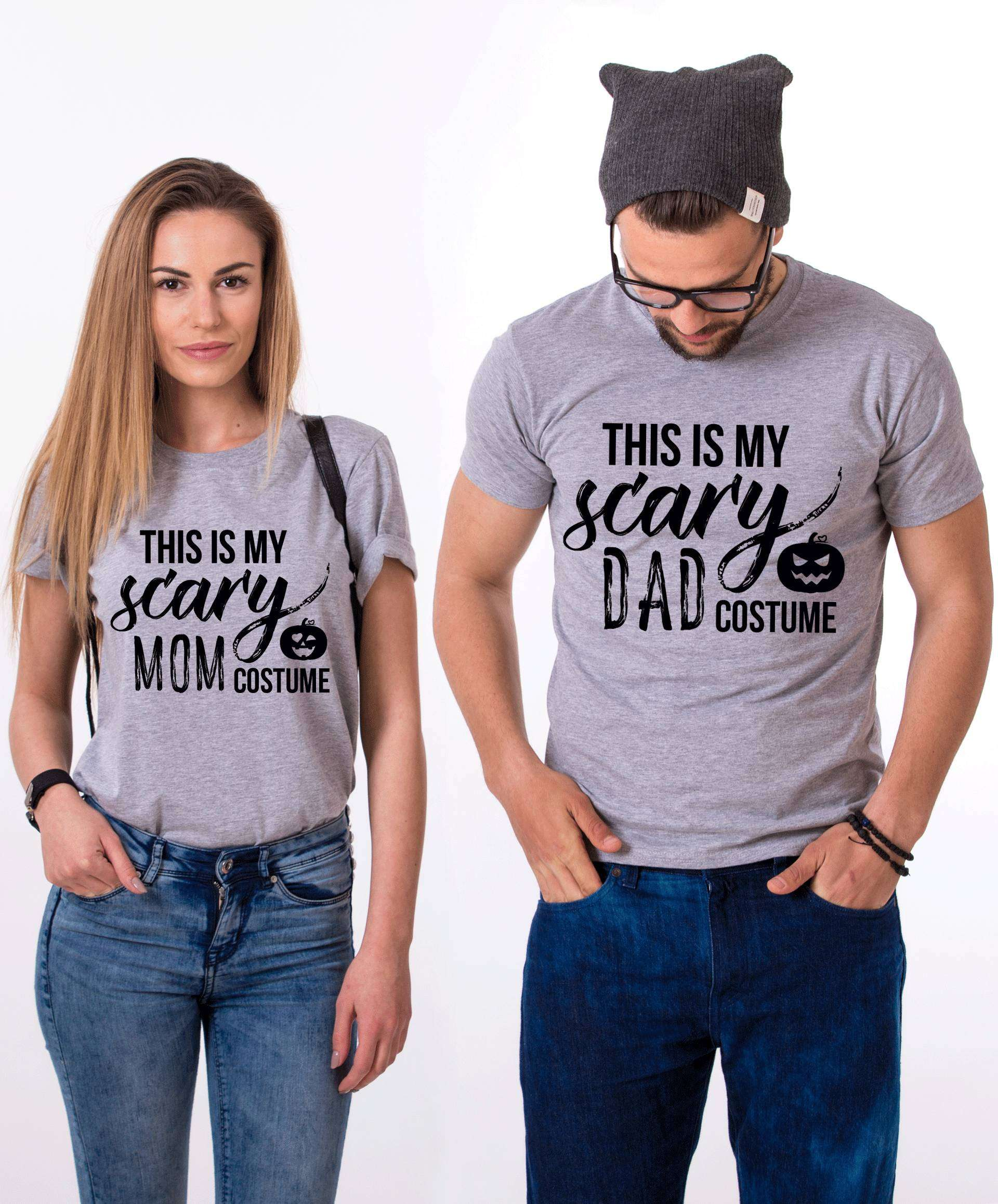 095bf004 Scary Mom Costume Scary Dad Costume Shirts, Matching Couple Shirts