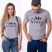 Mr Scary Mrs Scary, Matching Couple Shirts, Matching Halloween Shirts