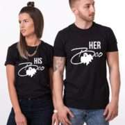 Her Boo His Boo, Matching Couples Shirts, Halloween Shirts