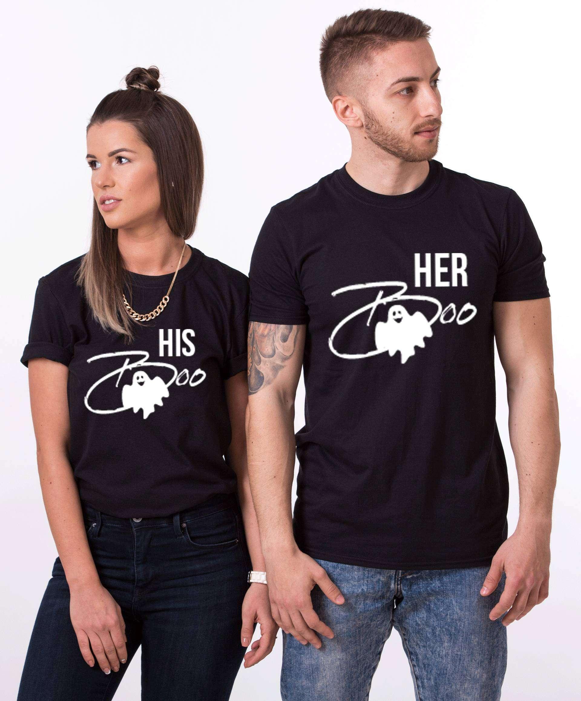 180c7eee Her Boo His Boo, Matching Couples Shirts, Halloween Shirts