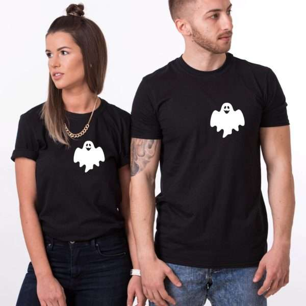 Ghost Halloween Shirts, Halloween Couple Shirts, Ghost Pocket