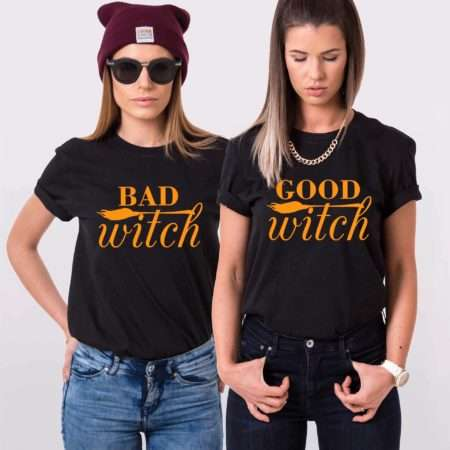 Good Witch Bad Witch, Matching Best Friends Shirts, Halloween Shirts