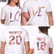 Married Since Couple Shirts, LOVE, Matching Couples Shirts