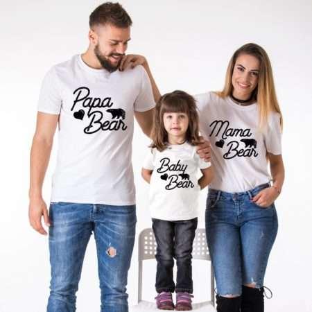 Bear Family Shirts, Mama Bear, Papa Bear, Baby Bear, Matching Shirts