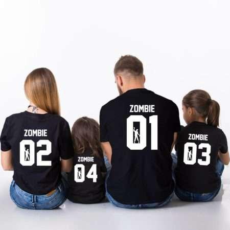 Zombie 01 Shirt, Zombie 02, Zombie 03, Matching Family Shirts