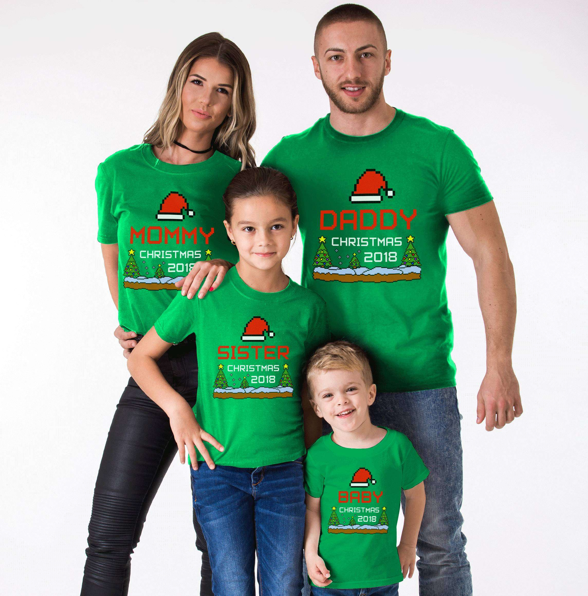 ee216af8db Mommy Daddy Baby Christmas Custom Year, Matching Family Shirts ...