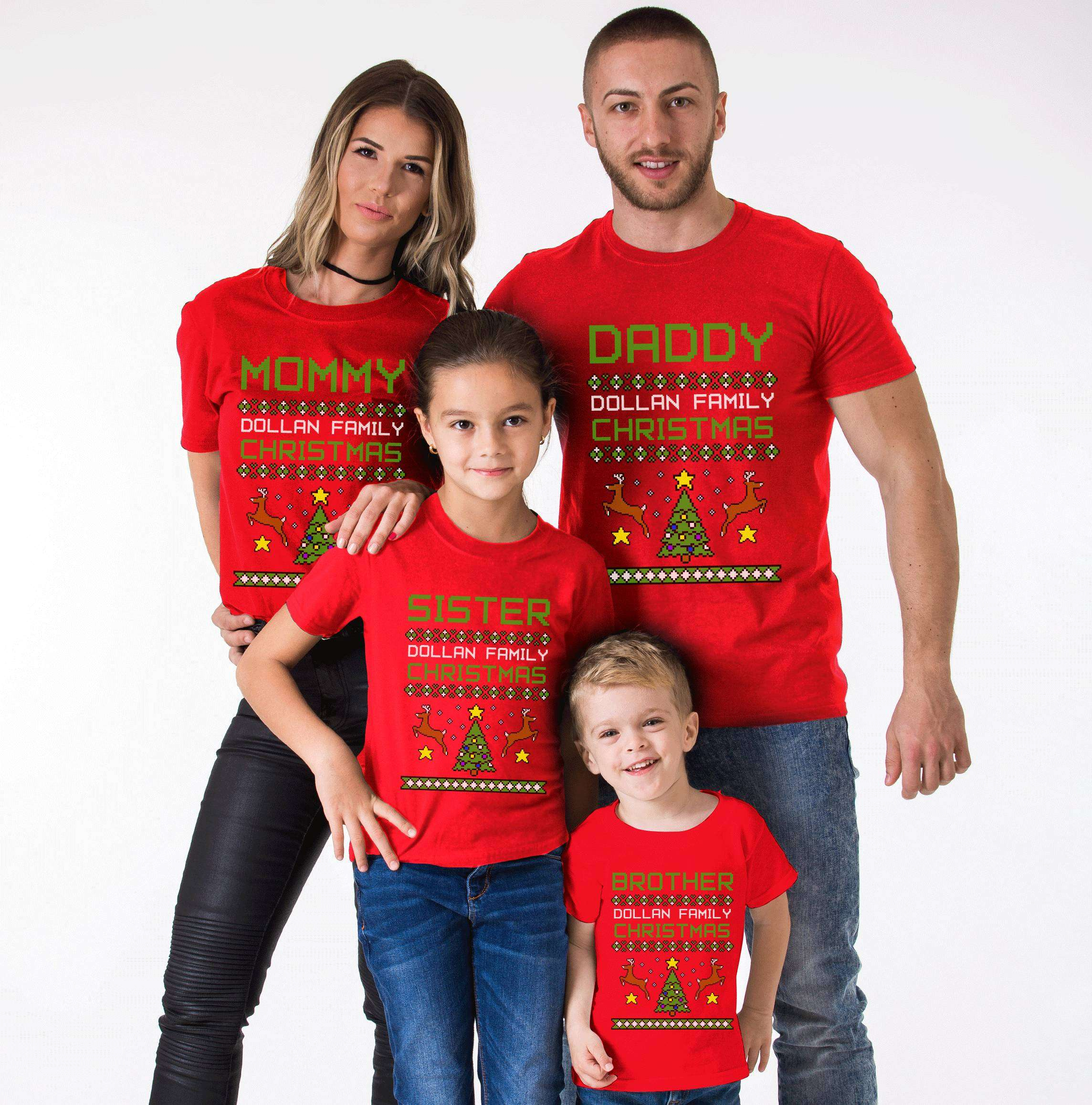 b9f3d96626 Ugly Christmas Family Shirts, Mommy Daddy Baby, Matching Family ...