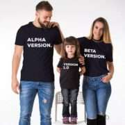Programmer Family Shirts, Alpha Version, Beat Version, Version 1.0