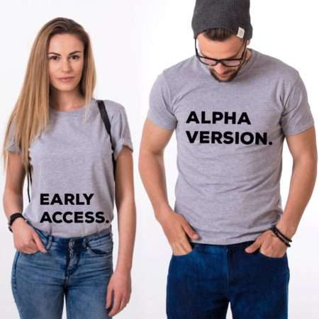 Alpha Version Early Access Pregnancy Shirts, Matching Couples Shirts