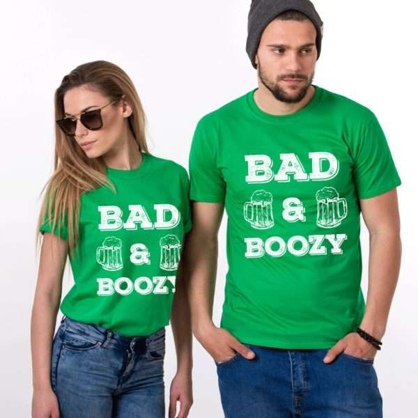 Bad and Boozy Shirt, St. Patrick's Day Shirt, Couples Shirts