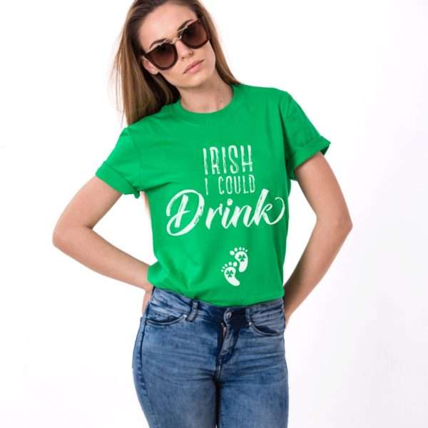 Irish I Could Drink Shirt, Pregnancy Shirt, St. Patrick's Day Shirt
