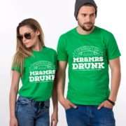 Mr Mrs Drunk, St. Patrick's Day, Matching Couples Shirts