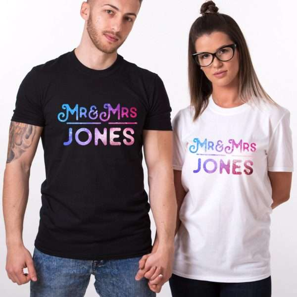 Custom Mr Mrs Shirts, Patterns, Matching Couples Shirts
