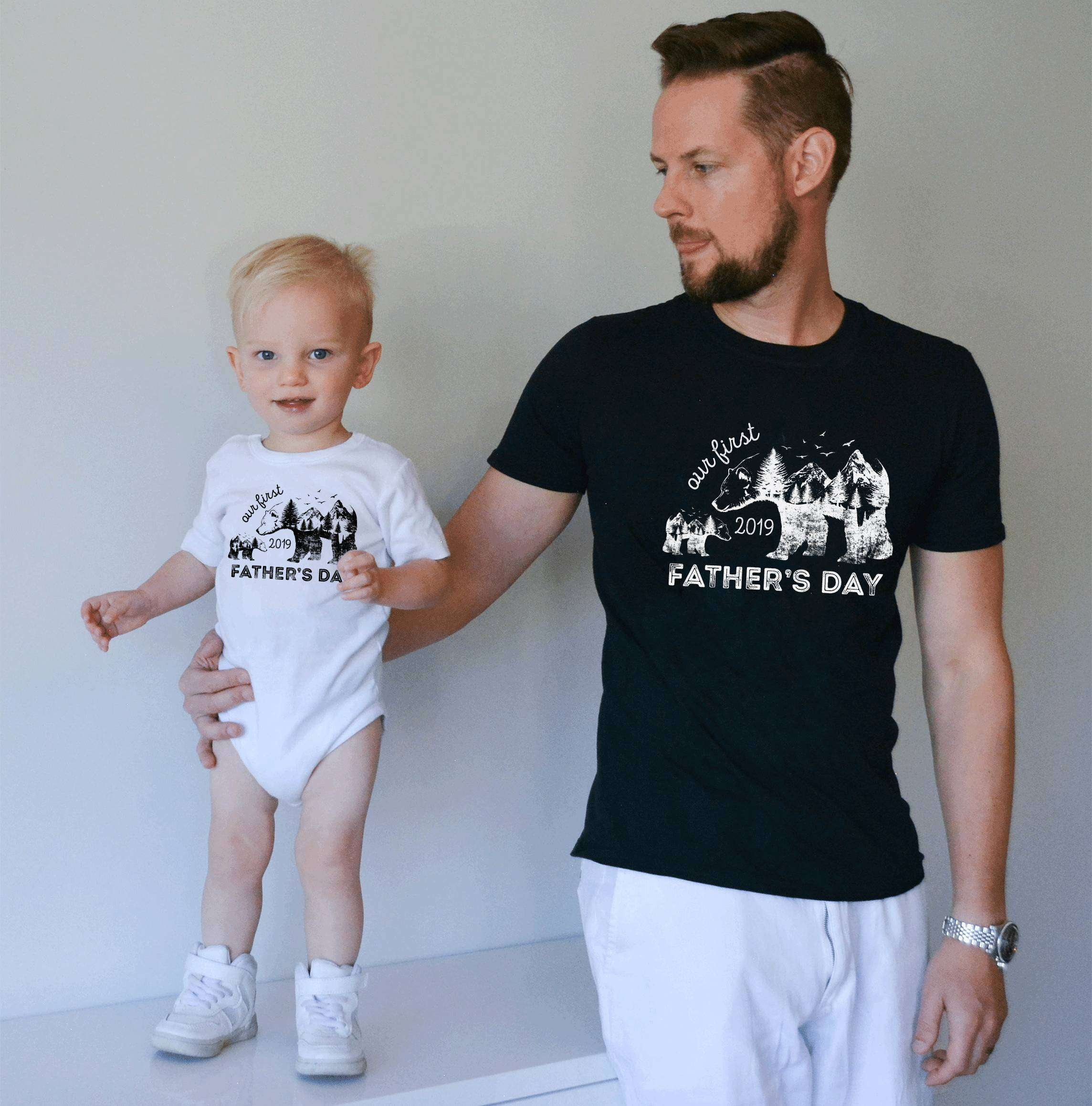 Our First Father S Day Shirts Father S Day Gift Daddy And Me Shirts
