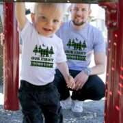 1st Father's Day Shirts, Our First Father's Day, Plaid Bears, Daddy and Me