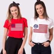 Monogram Independence Day Shirt, 4th of July Shirt, Matching Shirts