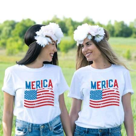 Merica Flag Shirt, 4th of July Shirt, Matching Couples Shirts