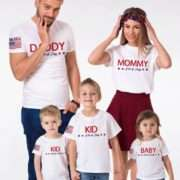 4th of July Family Shirts, Mommy Daddy Baby, 4th of July Shirt