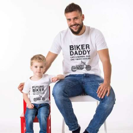 Biker Dad, Future Biker, Matching Daddy and Me Shirts, Father and Son Shirts