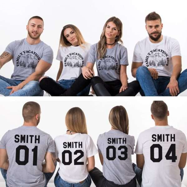 Family Vacation, Custom Name, Forest, Matching Family Shirts