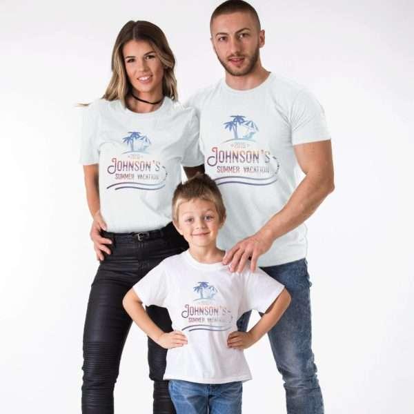 Family Summer Vacation Shirts, Custom Name, Matching Family Shirts