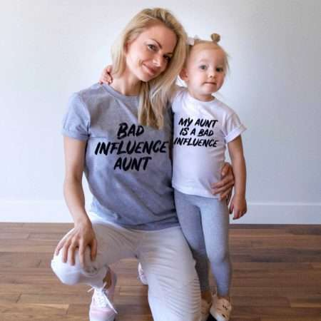 Bad Influence Aunt, Matching Family Shirts, Funny Aunt Shirts