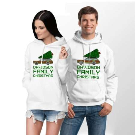 Personalized Family Christmas Hoodies, Matching Family Hoodies