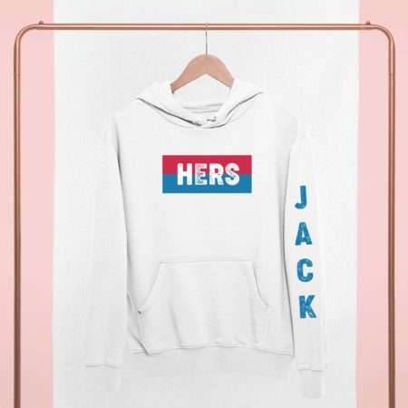 His Hers Couples Hoodies, Custom Names, Sleeve Print, Matching Hoodies