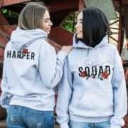 Bestie Squad Hoodies, Custom Name, Matching Best Friend Hoodies