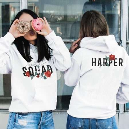 Bestie Squad Hoodies, Custom Name, Matching Best Friend Hoodies