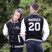 Wedding Bride Groom Jackets, Married Since, Mr Mrs, Matching Varsity Jackets
