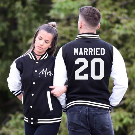 Wedding Bride Groom Jackets, Married Since, Mr Mrs, Matching Varsity Jackets