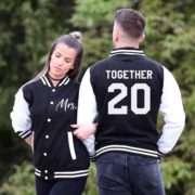Bride Wedding Jackets, Together Since, Mr Mrs, Matching Varsity Jackets