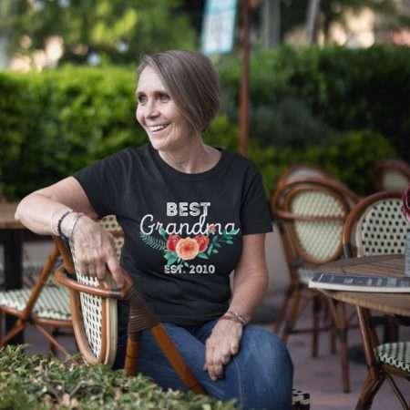Best Grandma Est Shirt, Mother's Day Gift, Grandma Gift, Custom Gift for Grandma
