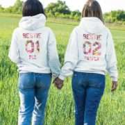 Personalized Bestie Hoodies, Bestie 01, Matching Best Friends Hoodies