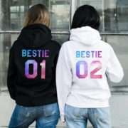Best Friend Gifts, Bestie 01 Bestie 02, Matching Best Friends Hoodies