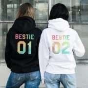 Best Friend Gifts, Bestie 01 Bestie 02, Matching Best Friends Hoodies