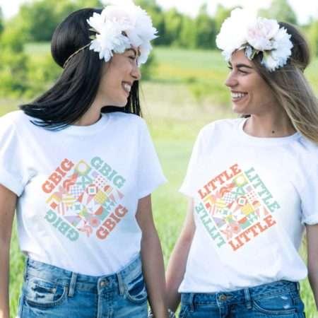 Big Little Reveal Sorority Shirts, Pastel Colors, Matching Best Friends Shirts