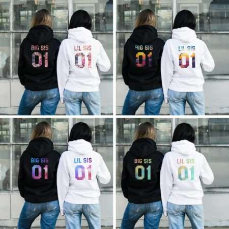 Big Sis Lil Sis Hoodies, Patterns, Matching Best Friends Hoodies