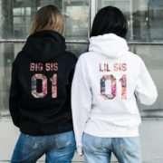 Big Sis Lil Sis Hoodies, Patterns, Matching Best Friends Hoodies